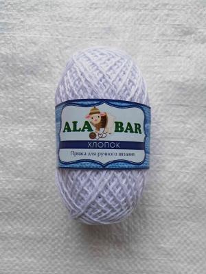 """Пряжа хлопок """"Alabar"""" белый"""