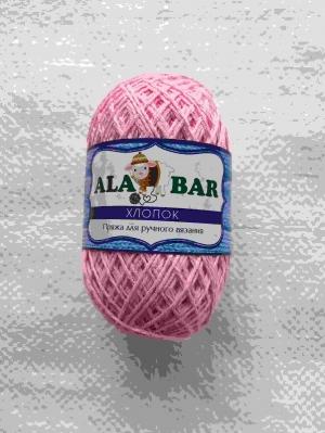 """Пряжа хлопок """"Alabar"""" розовый"""